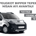 2014 Nisan Ayı Peugeot Bipper Tepee Kampanyası