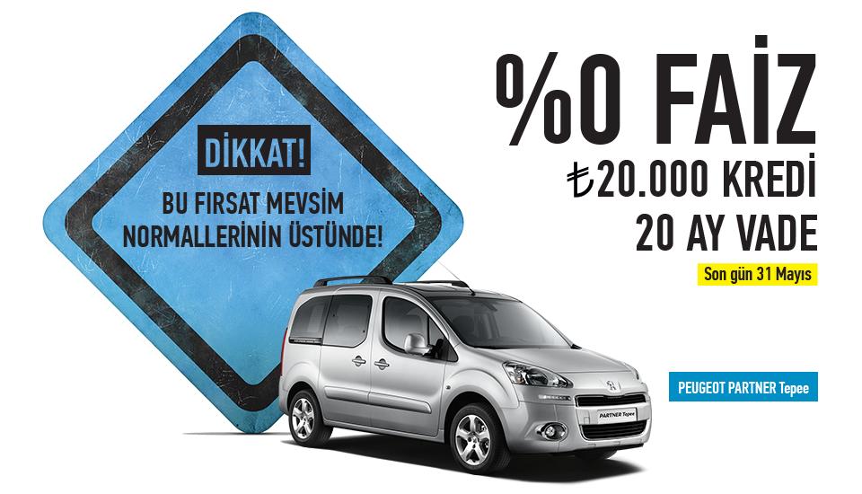 Peugeot Partner Mayıs Kampanyası - Uygun Taşıt
