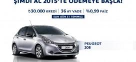 Peugeot 208 Şimdi Al 2015′te Öde Kampanyası