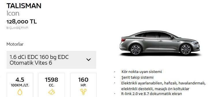 1.6 dCi 160 bg EDC Otomatik vites 6